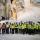 Students in the Carrara quarries