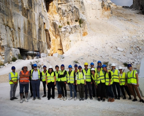 Allievi alle Cave di Carrara